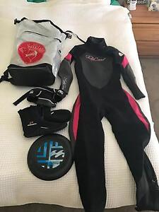 Women's ripcurl wetsuit & accessories Kingston Kingborough Area Preview