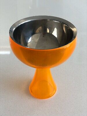 Alessi 'Big Love' Ice Cream Bowl In Orange & Stainless Steel Big Love Ice Cream Bowl