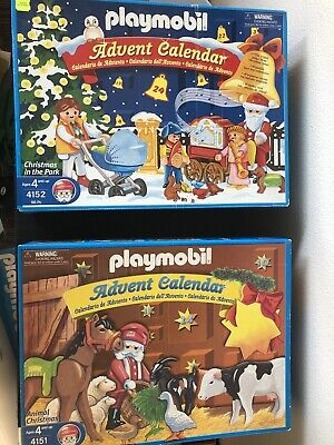 PLAYMOBIL Vintage Advent Christmas Calendars - 4151 & 4152 - 99% complete