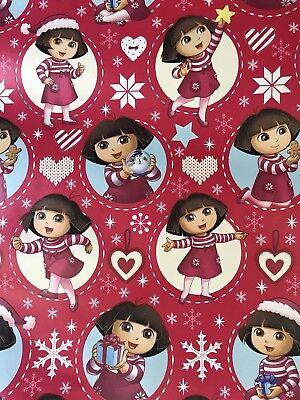 DORA THE EXPLORER Christmas GIft Wrapping Paper 40 sq ft wrap ()