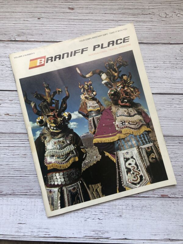 Vintage Braniff Place International Travel Magazine 1975 Airlines Vol 3 No 4