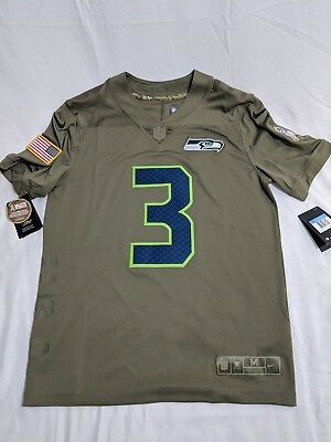 77022397d4fa8 Seattle Seahawks Russell Wilson Salute to Service NFL Jersey Size M Football