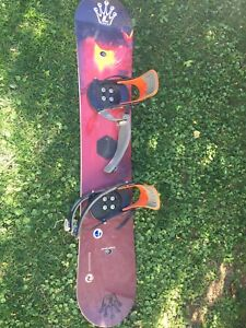 Snow board bindings and boots