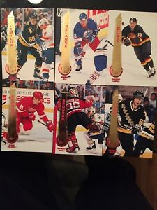 2500 cartes de hockey pinnacle upper deck 94-95