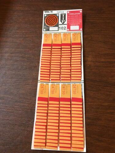 One Dozen #120 Regular Tip Boards  Jar Tickets Free Shipping USA