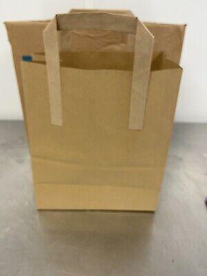 Kraft Craft Paper SOS Carrier Bags Brown with Flat Handles /Takeaway/ restaurant