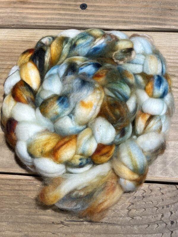 Superfine Optim Merino Wool Top/Roving. 12-14 Micron. Hand dyed. 4oz. #1