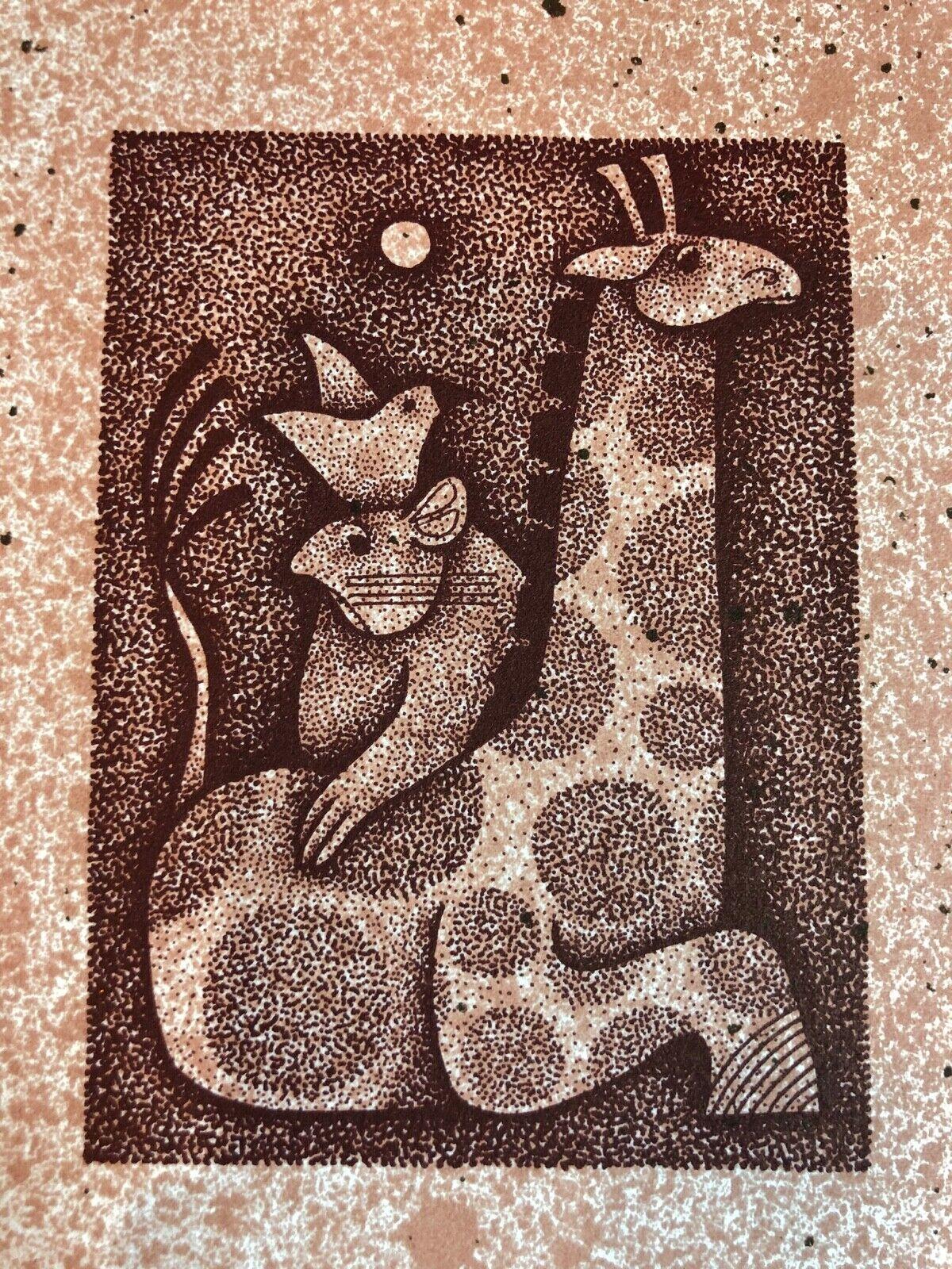 Carol Jablonsky Lithograph Art Print – Circus Enter Limited Edition 152/250 Art