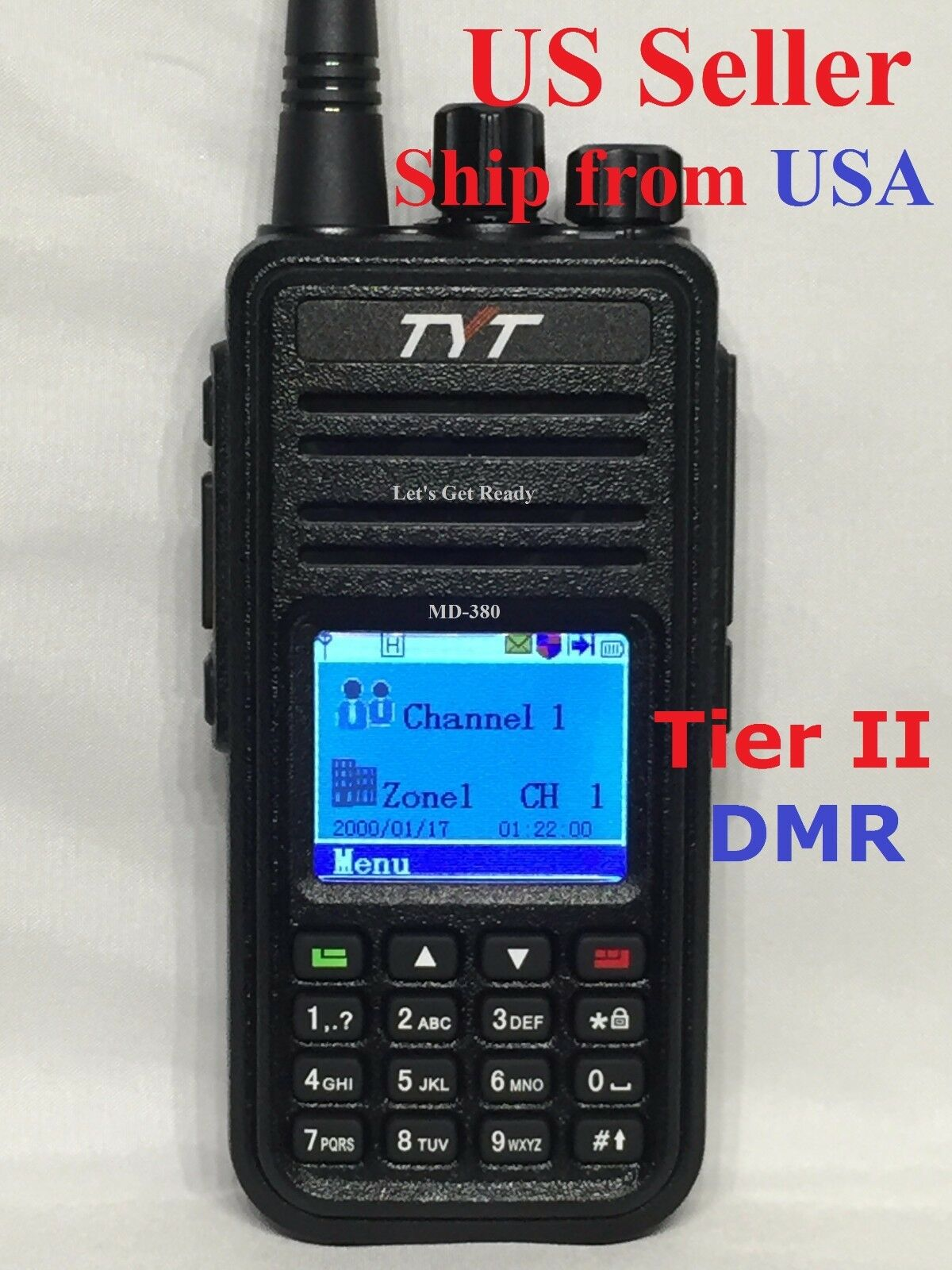 TYT MD-380 UHF Analog/Digital Tier II DMR DMR Radio USB cable Software US Seller