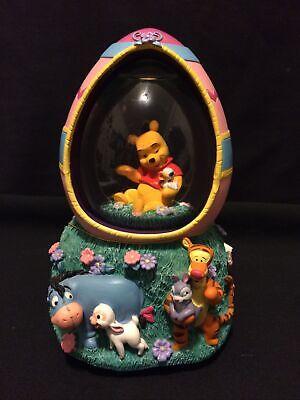Disney Store Winnie The Pooh Tigger & Eeyore Easter Egg Music Snowglobe