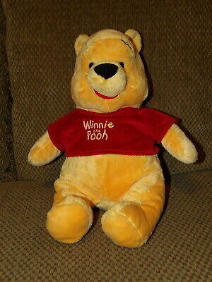 "Large 18"" Disney Plush WINNIE The POOH Bear w/ Red Embroidered Shirt (*g14)"