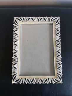 "Nicole Miller silver/diamonte 4""×6"" frame"