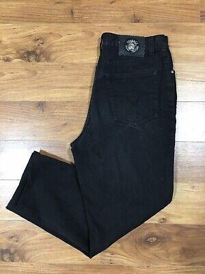 Vintage Men's Versace Jeans Couture Relaxed Black Denim Jeans size 34 Waist