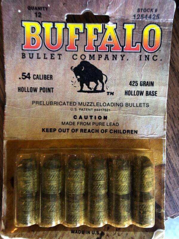 Buffalo .54 caliber hollow point muzzleload shot vintage
