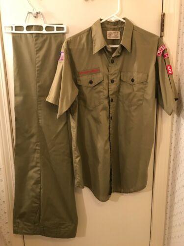 Vintage BSA 654 Pleasant Hill NC Uniform Medium Shirt & Pants Size 34x28 1/2 VGC