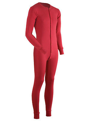 Coldpruf Men's Merino Wool Authentic Red Thermal Union Suit