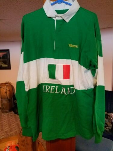 Vintage Vernors Soda Advertising Polo Shirt Size Extra Large Dehen Brand USA