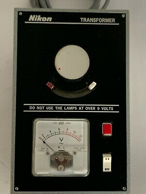 Nikon 0-10 Vac Microscope Lamp Transformer Power Supply