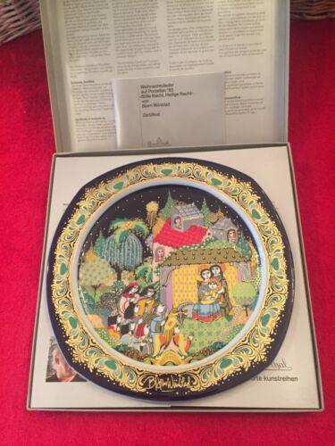 ROSENTHAL  1983 Wiinblad Silent Night Xmas Plate, NEW, 1st. Ed., Mint, Orig.Box