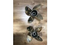 177323//177322 RX4 EVINRUDE G1 and G2 Propellers.