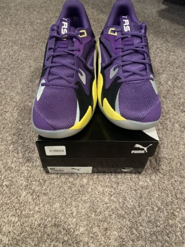 PUMA RS DREAMER PURPLE HEART YELLOW WHITE SIZE 14 CONFIRMED ORDER NEW J COLE