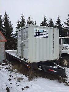 8 ft Storage Container with Flat Deck Trailer