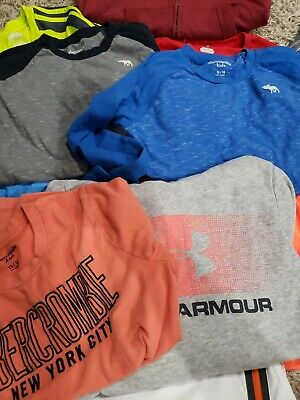 Boys Clothes Lot Of 21 size Medium / Large Sweatshirts Abercrombie, Under armor.