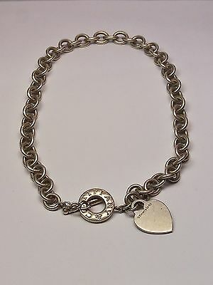 TIFFANY & CO 925 STERLING SILVER HEART NECKLACE, CHOCKER (Tiffany Jewellery Designs)
