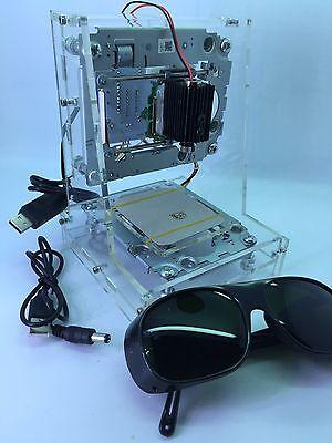 USB Laser Printer Engraver Cutter Auto Engraving Cutting UK Seller