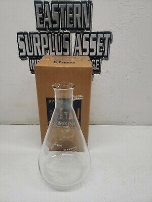 Vintage Pyrex Glass 4000ml Filtering Flask Heavy Rim Sidearm Tube No.5340