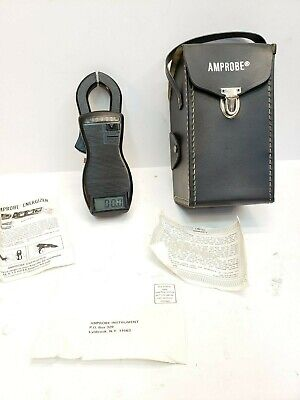 Vintage Amprobe Digital Multimeter Clamp-on Test Meter Model Acd-2