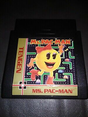 MS MRS PACMAN PAC-MAN TENGEN BLACK GAME SYSTEM NINTENDO NES HQ **SUPER MINT**