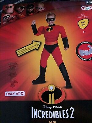 NEW Disney Incredibles 2 Dash Costume Sound effects Small 2T Muscle chest