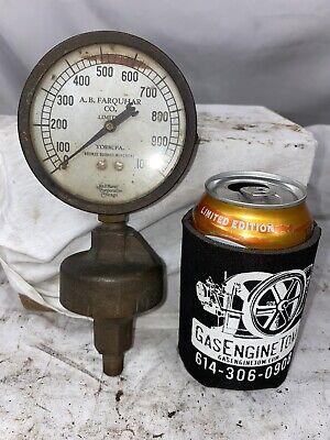 A.b. Farquhar Co. Steam Gauge Brass Steampunk Tractor Hit Miss Gas Engine Gage