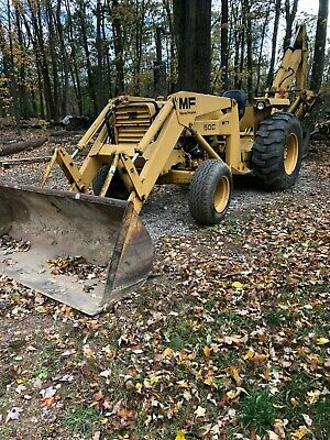 Vintage Massey Ferguson Backhoe Loader . Diesel Engine Works Great