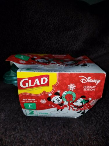 Glad Limited Edition Christmas Holiday Container Mickey & Mi