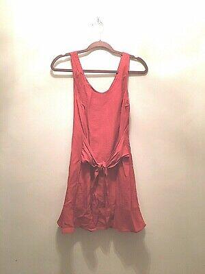 Men's 1920s Style Ties, Neck Ties & Bowties SKYLAR + MADISON Size Medium Orange Short Ruffle Hem Summer Dress w/Waist Tie $20.00 AT vintagedancer.com