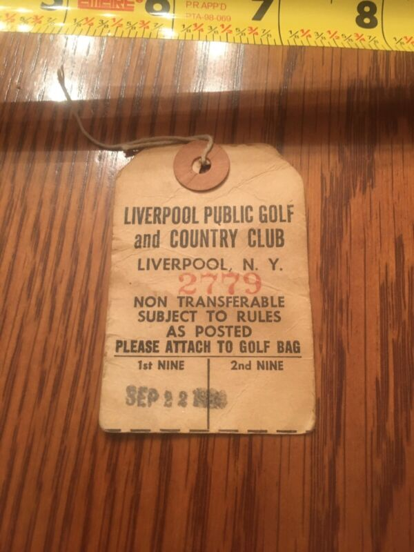 1964 Liverpool NY Country Club Vintage Golf Bag Tag Now Defunct