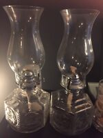 Glass oil lamps