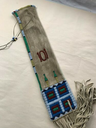 BEAUTIFUL SIOUX BEADED 101 RANCH PIPE BAG