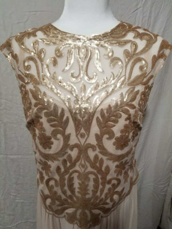 NWT EMMA STREET Champagne Mother of the Bride/Groom Dress Size 14