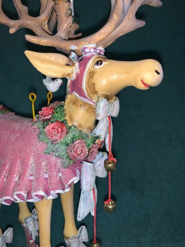 "Patience Brewster Krinkles Dash Away Donna Figure Reindeer 12"" Tall DEPT 56"