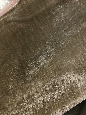 DARK BEIGE 100% COTTON VELVET HEAVY WEIGHT UPHOLSTERY FABRIC (58 in.) Sold BTY