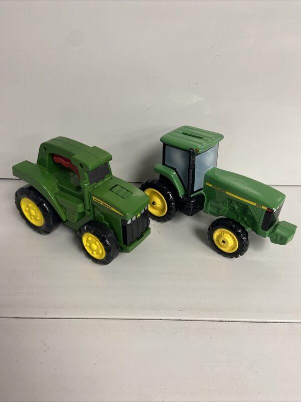 Enesco - John Deere 8400 Tractor Ceramic Bank And Flashlight Lot B1