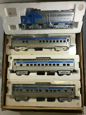 Canadian Mist Express Train O Gauge ALCO Diesel Engine and Three Passenger Cars for sale  Shipping to Canada