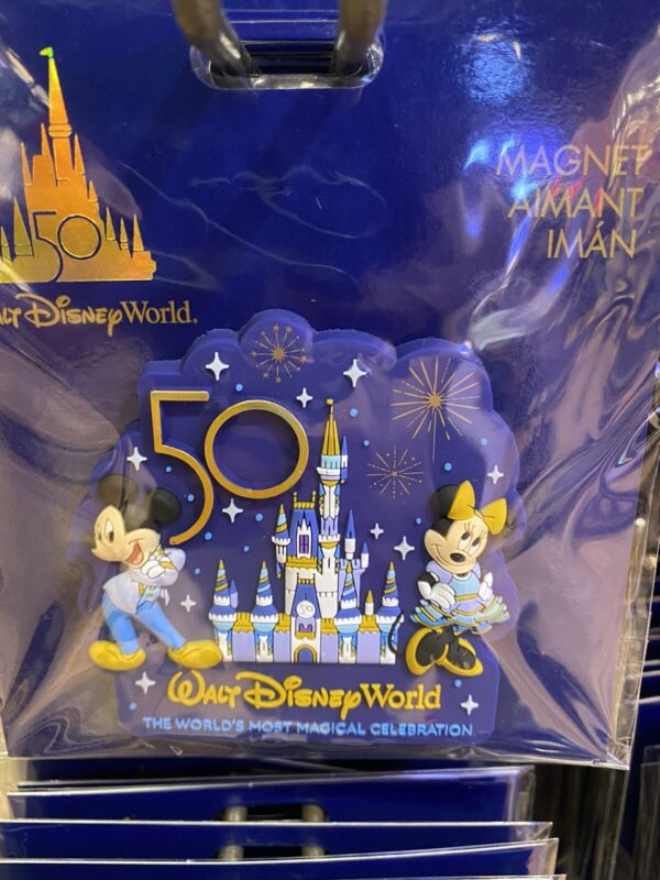 Disney World 50th Anniversary Castle Collection Magnet