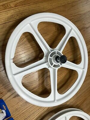 "New 20/"" BMX MAG Plastic 6 spokes Front /& Rear Freewheel Bike Bicycle wheels"