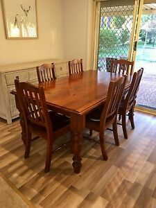 Solid wood dining set Cranebrook Penrith Area Preview