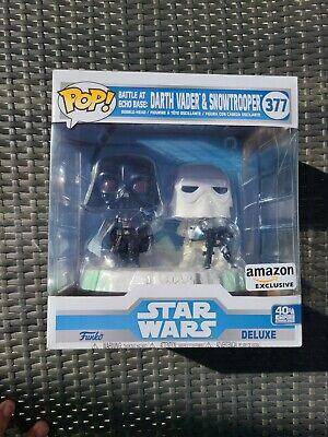 Funko Pop! Deluxe Star Wars Battle at Echo Base Darth Vader & Snowtrooper Dec.20