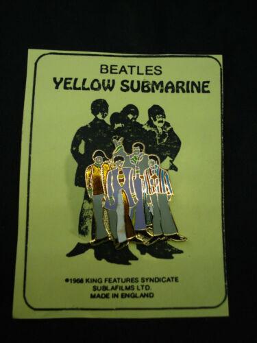Beatles Yellow Submarine Pin On Card